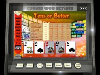 Buy Tens Or Better Video Poker game