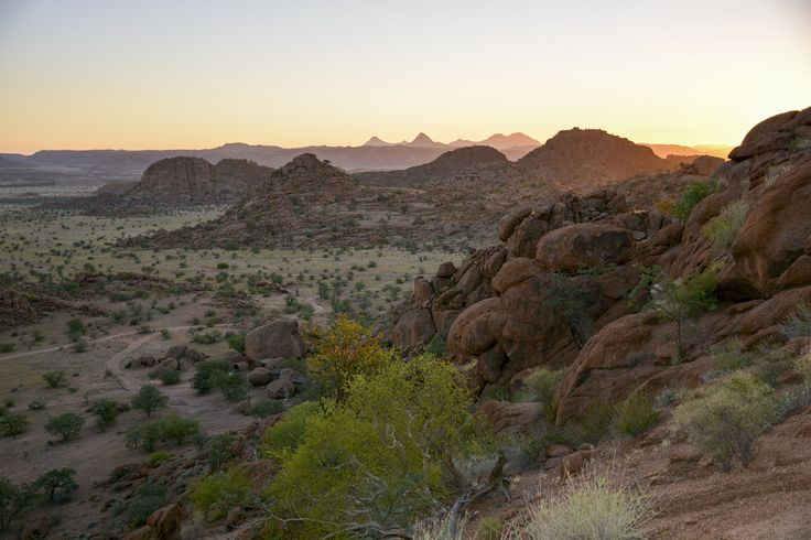 A lovely sunset at the campsite in Damaraland, Namibia.