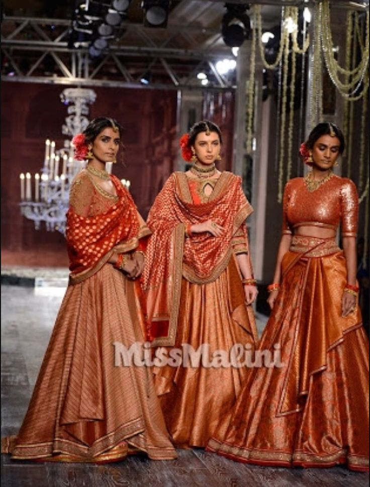Tarun tahiliani collection at ICW 2016...beautiful hues of orange...stunning