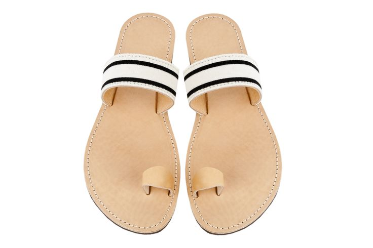 Isapera sandals : Elia in Stripes