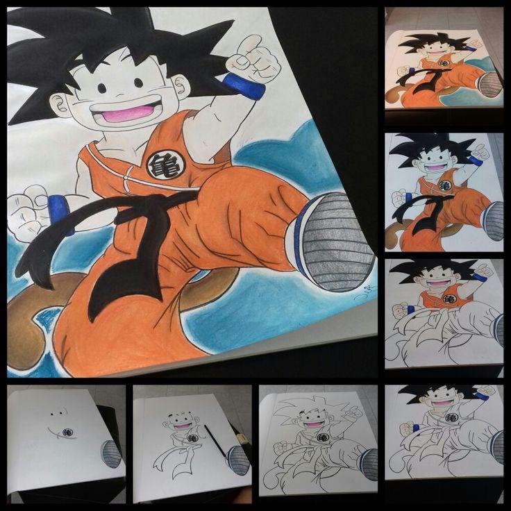"Goku ""Dragon ball Z"" Gises pastel"