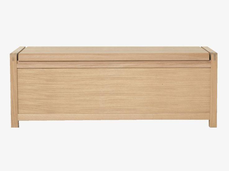 RADIUS NATURAL Wood Oak storage trunk - HabitatUK