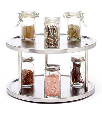 25 best ideas about cabinet organizers on pinterest kitchen cabinet organizers food storage - Spice rack for lazy susan cabinet ...