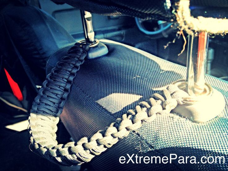 Headrest grab handles from eXtremePara.com - will definitely be making these for my truck!
