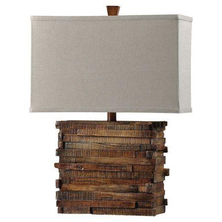 Wooden Table Lamp - perfect for a rustic flair.