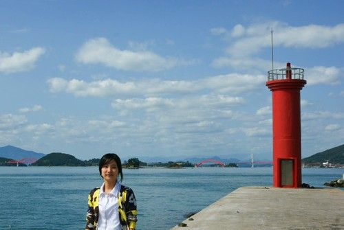 Lighthouses of South Korea: Sacheon and Namhae Area, Sinsudo South Breakwater