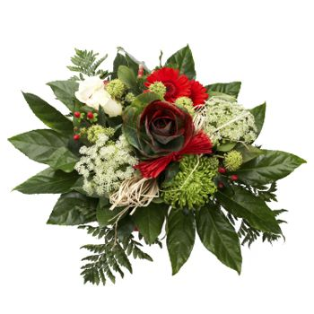 Flowers to Kazakhstan - Send Holiday Greetings Bouquet
