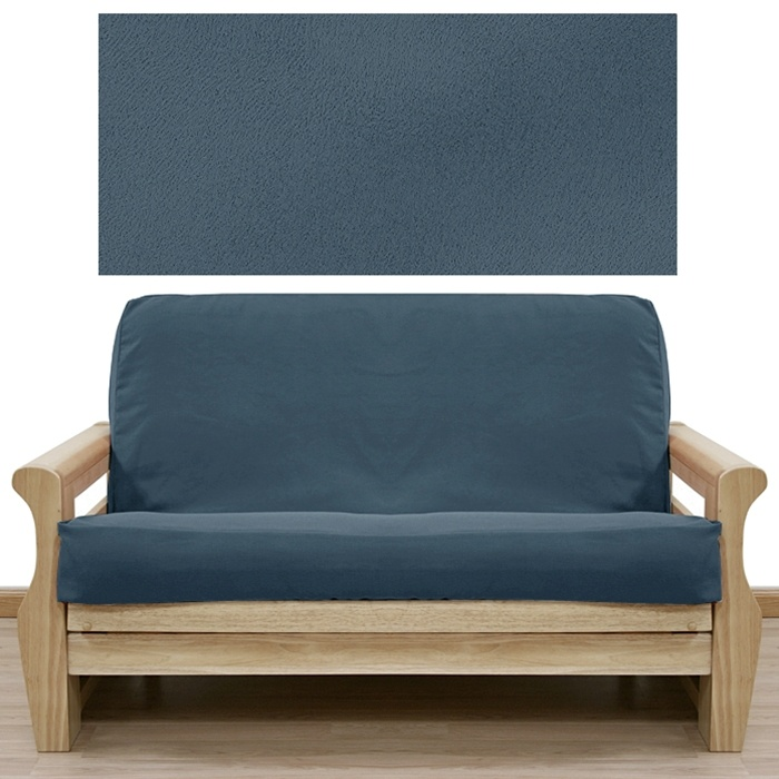 Medium image of microsuede blue heaven futon cover  futoncovers