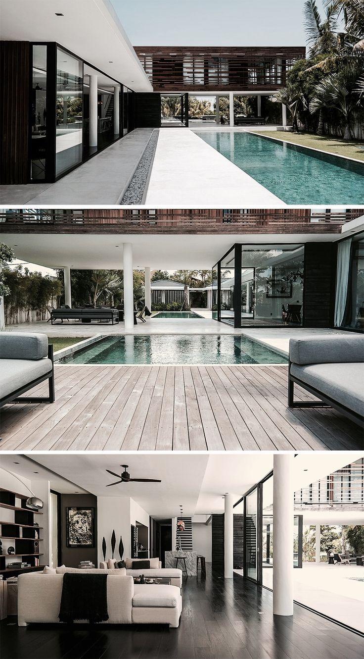 Les 825 meilleures images du tableau villa contemporaine for Exterieur villa design