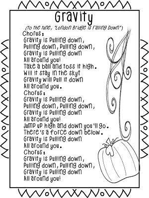 """Song About """"Gravity"""" (from First Grade Wow)"""