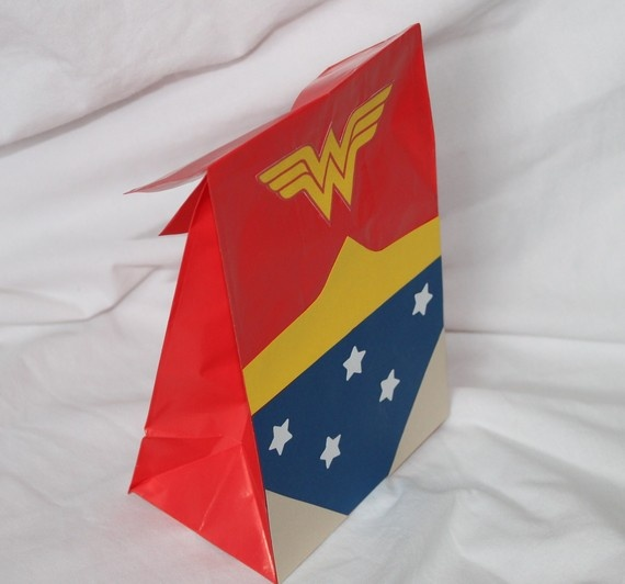 Superhero party Favor Bag for the girls