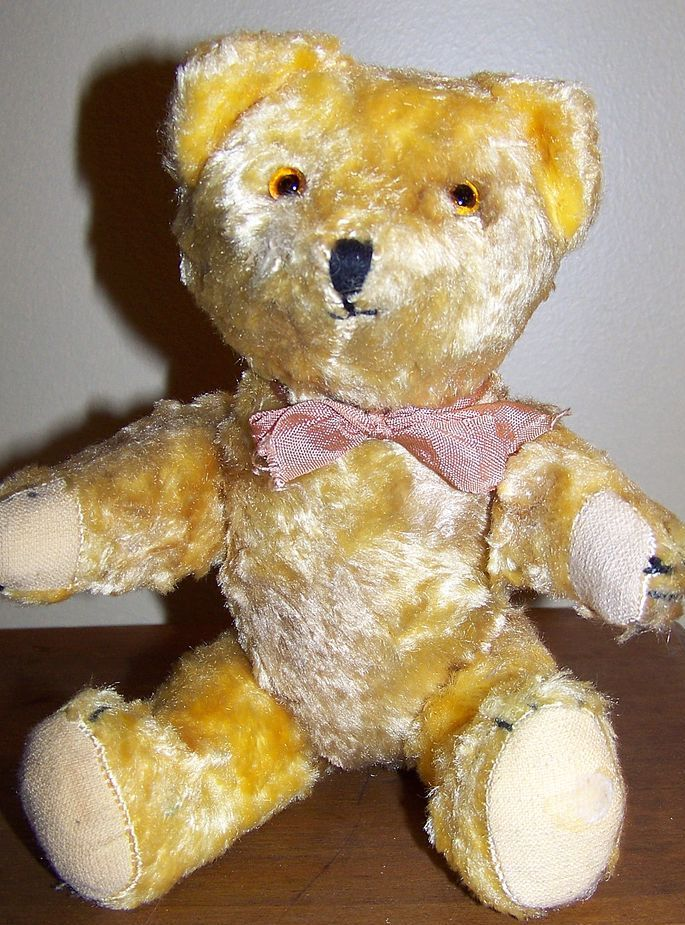 Early Yellow Teddy Bear Excelsior Stuffing Cute