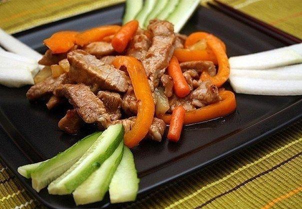 Фото к рецепту: Свинина по-китайски.
