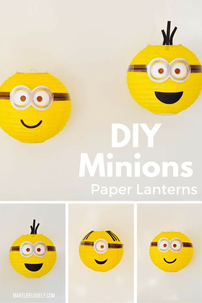 Easy DIY Minions & Despicable Me paper lanterns party decorations tutorial