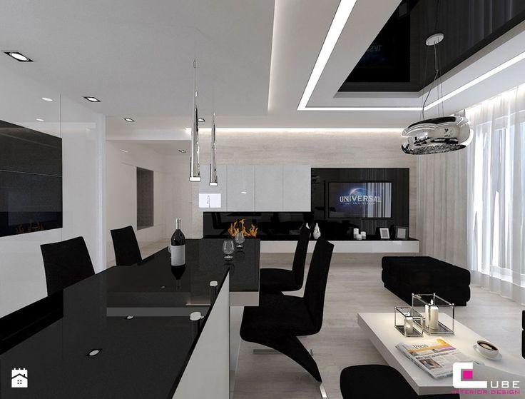Mieszkanie 69 m2 w Siedlcach - Salon, styl nowoczesny - zdjęcie od CUBE Interior Design