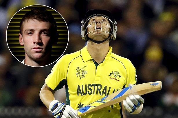 #Australia_worldcup_win_is_dedicated_to_PhilipHughes Late Philip Hughes was dedicated recent Australian world cup by Captain Michael Clarke.