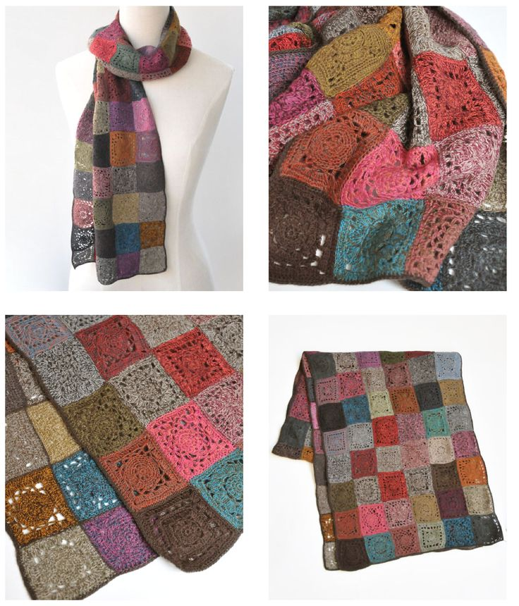 Sophie Digard crochet scarf - square motifs