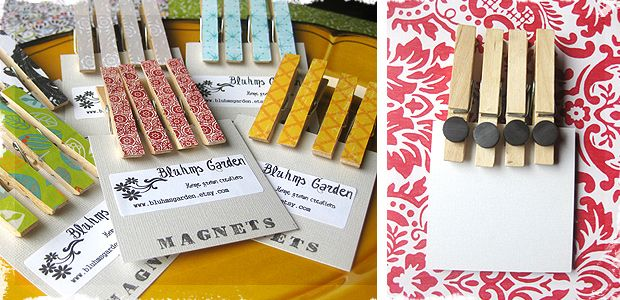 Decorated Clothespin Magnets - cute gift idea!