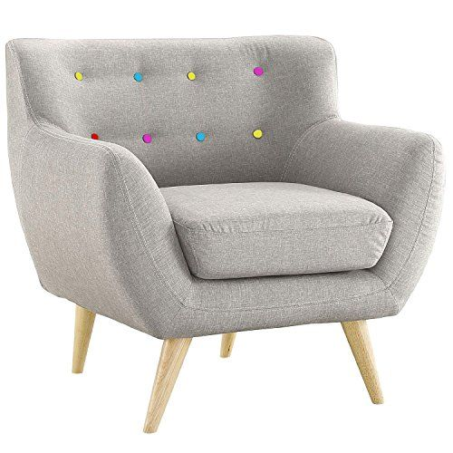 Best Mid Century Modern Tufted Button Living Room Accent Chair 400 x 300