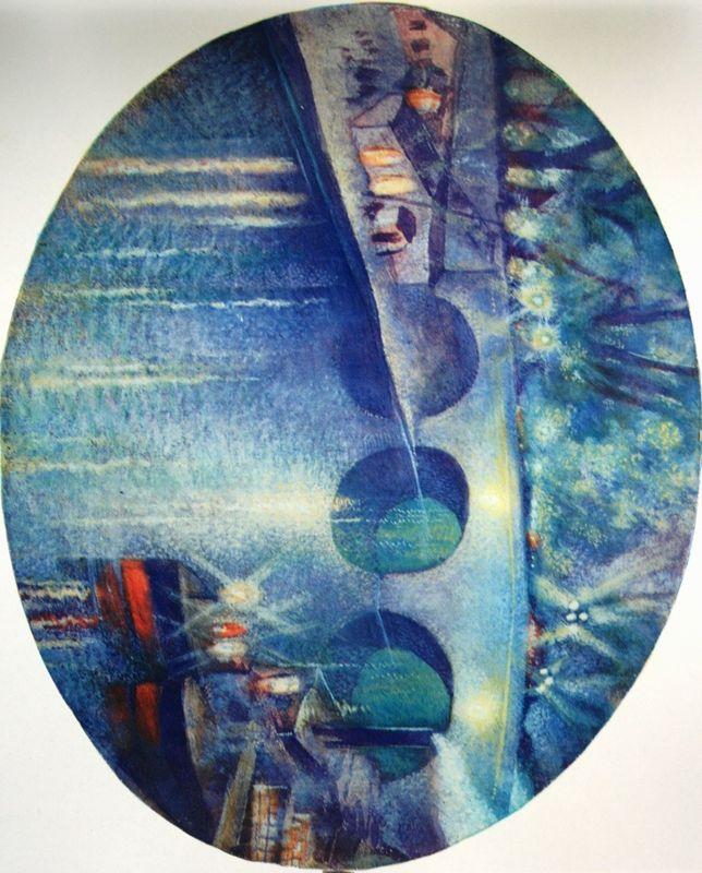 Шевченко Александр «Мост» Бумага, гуашь 21,4х26,5 Государственный музей искусств Каракалпакской Республики