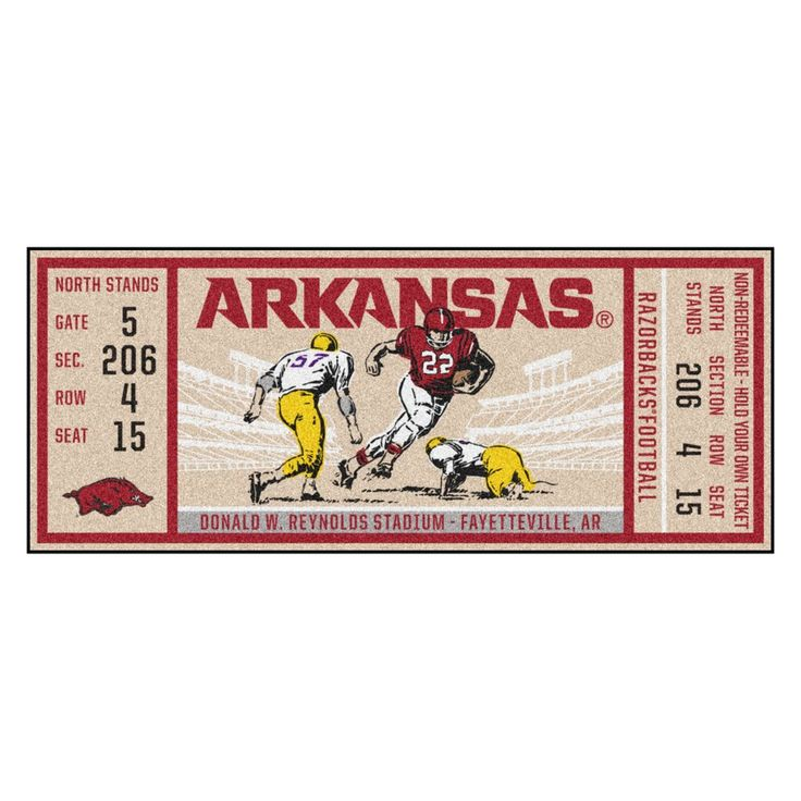 """Arkansas Ticket Runner 30""""x72"""""""