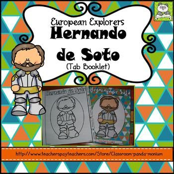 Studying European Explorers of North America such as Hernando de Soto? This tab booklet is great to use when teaching Hernando de Soto on the elementary level. This tab booklet meet the Georgia's third grade Social Studies standards for SS3H2a-c: Describe European exploration in North America and SS3G3b: How early explorers adapted or