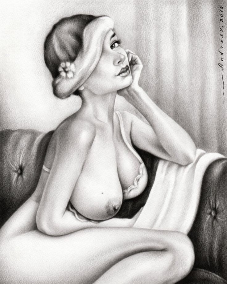 Female Nude Print Of An Original Oil Painting 'Beautiful Woman Posing' 8x10 Erotic Art Naked Woman Like Pencil Drawing Signed Artist Andreev by VesselinArtStudio on Etsy