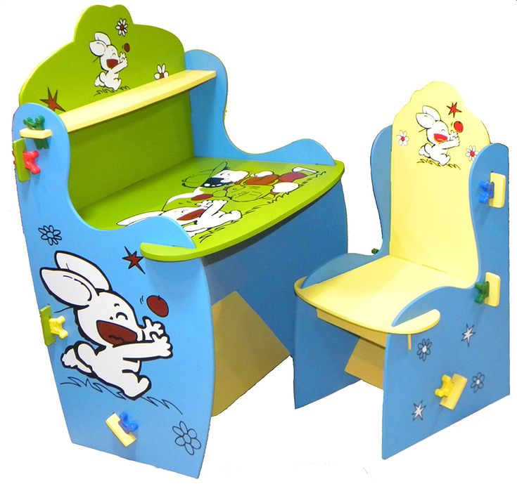 Kids Kitchen Table: Wood O Plast Knock Down Kids Study Table Chair Set