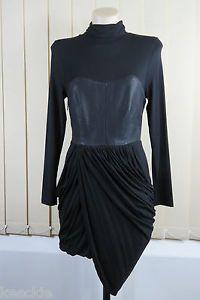 Size XS 6 Mossman Ladies Black Dress Femme Fatale Gothic Fitted Stretch Design | eBay