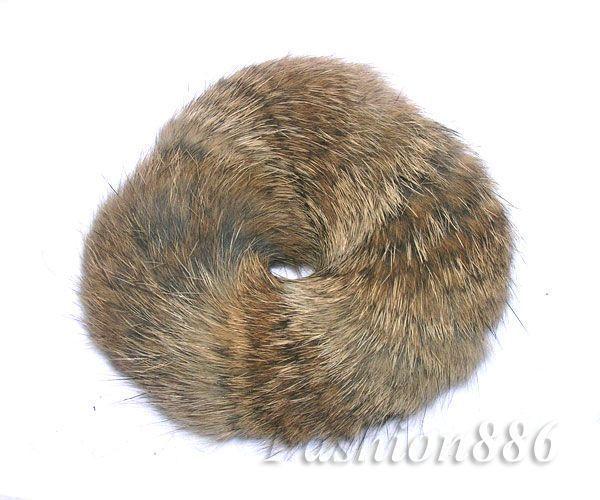 Real Rabbit Fur Hair Accessories Hair Scrunchie Hair Tie Ponytail Holder RD05