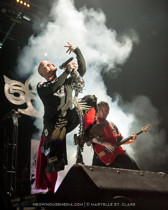11 Oct 2014, Duluth GA: L-R: Ivan Moody, Zoltan Bathory - Five Finger Death Punch. At Gwinnett Arena, playing with Hellyeah and Volbeat.
