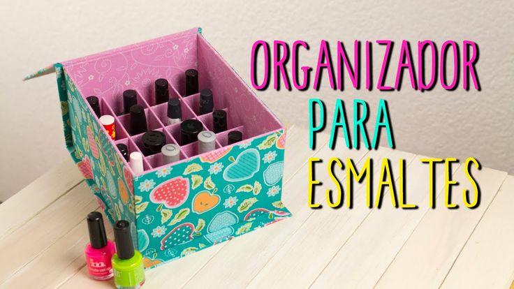 Organizador de Esmaltes - Hecho de Cartón - DIY Cartonaje | Catwalk