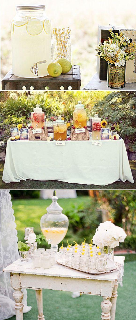Mesas de bebidas para fiestas: son geniales para todo tipo de fiestas: bodas, cumpleaños, barbacoas. Unas ideas para realizar vuestra mesa de bebidas.