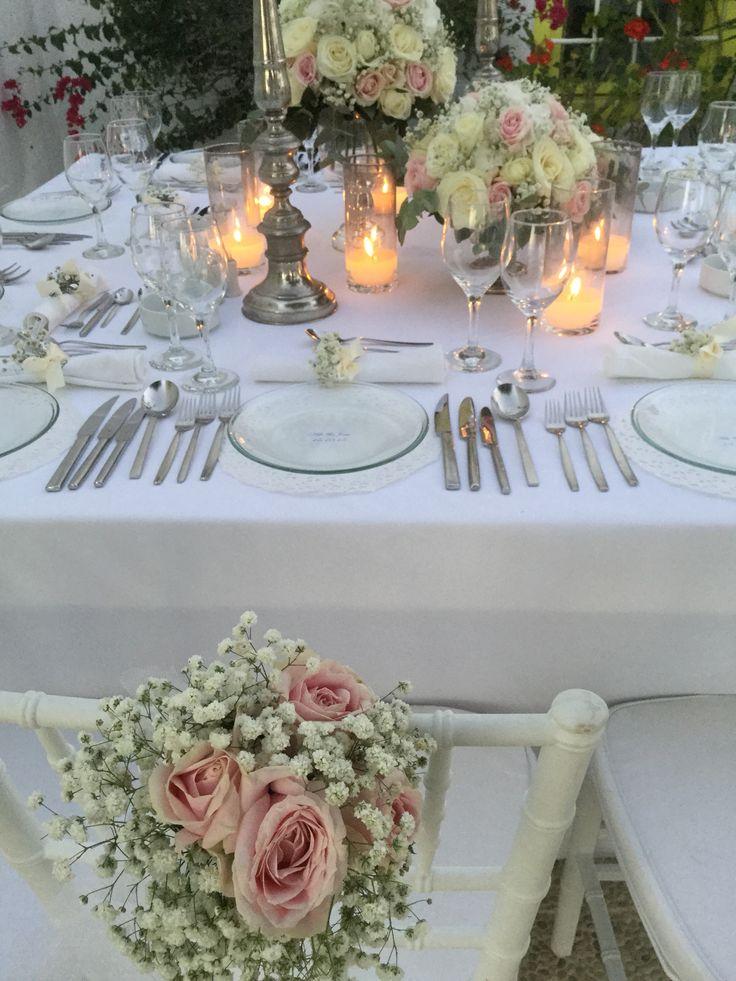 Wedding dinner,santorini