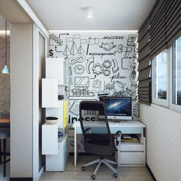 A workspace is a necessity for many modern adults, whether they work from there full time or just need a place to catch up on emails. This cozy area has room for all the necessities without taking up too much floorspace.