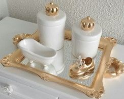 Kit higiene coroa bandeja decorada