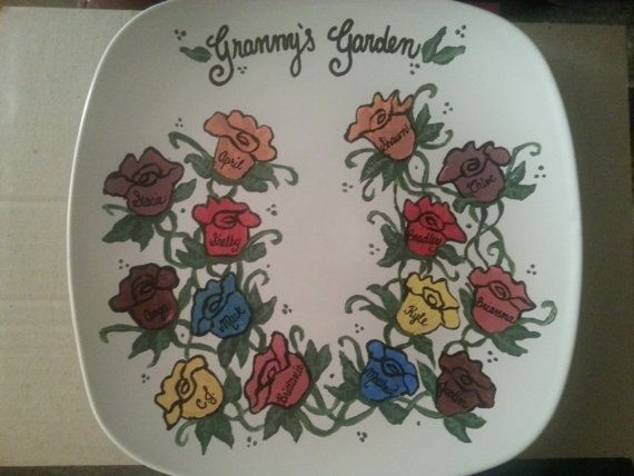 Personalized Family Plate by SeasonalExpress on Etsy