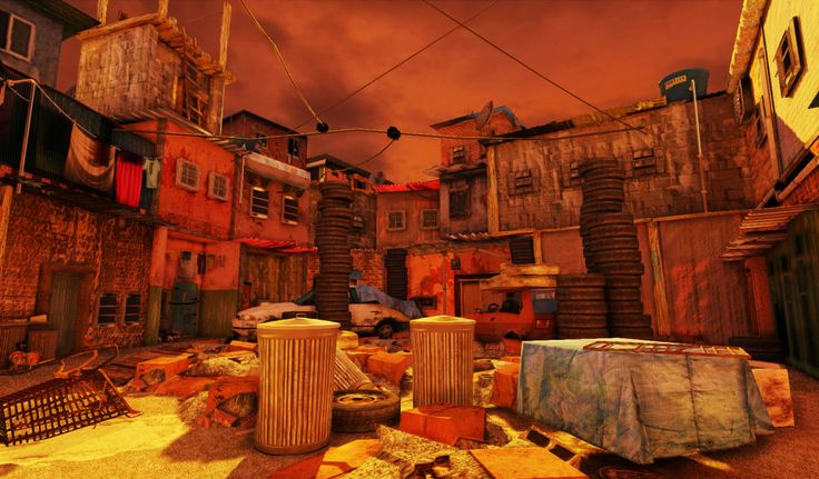 Favelas,The final scene was rendered in UDK
