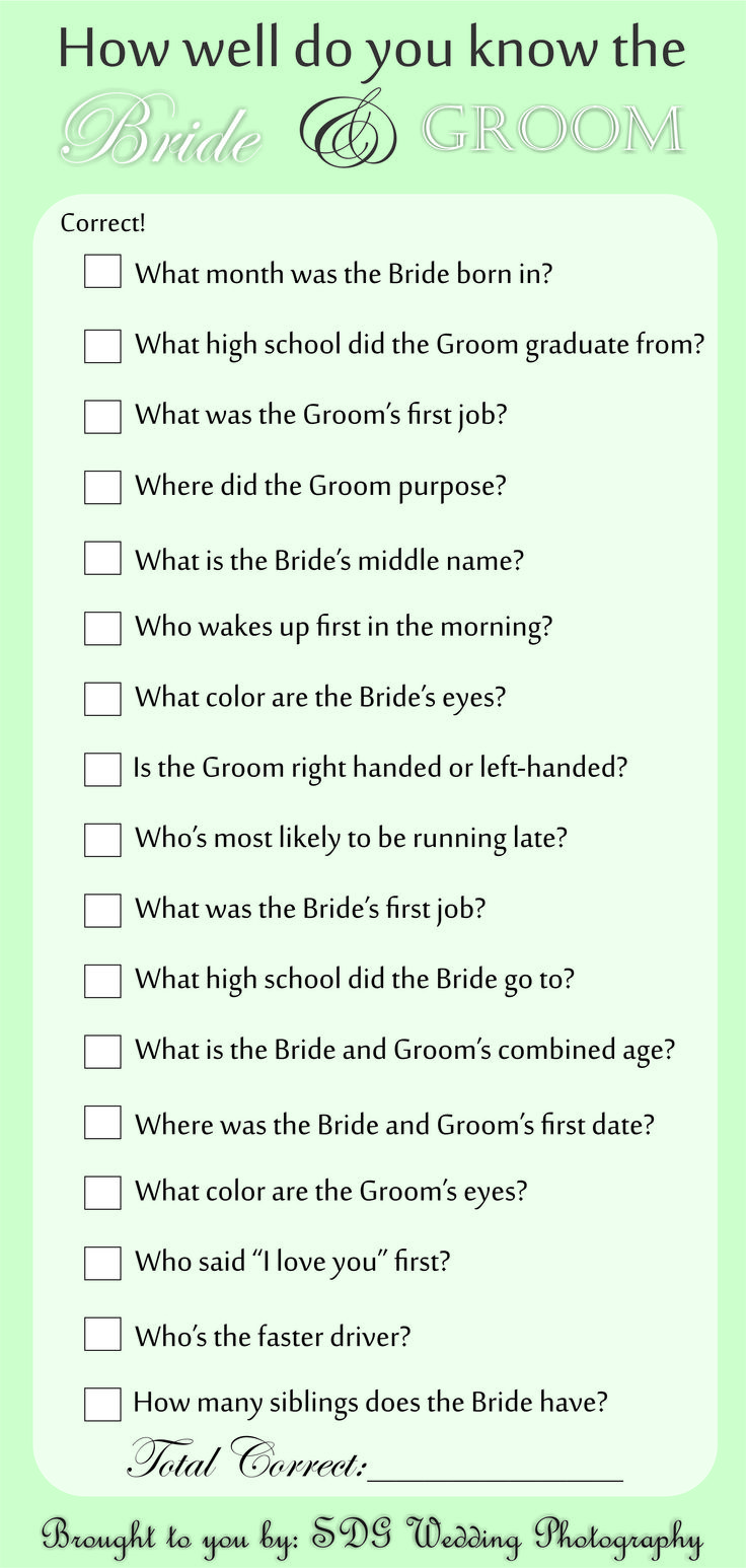 Beautiful Wedding Reception Trivia Questions Photos The Wedding