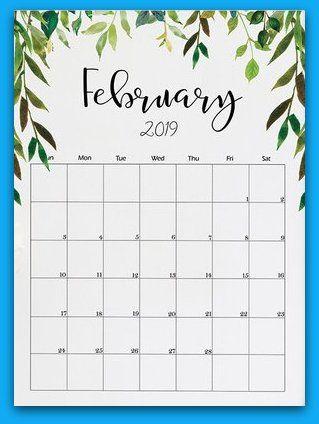 February 2019 Floral Printable Calendar 2019 Calendars Calendar