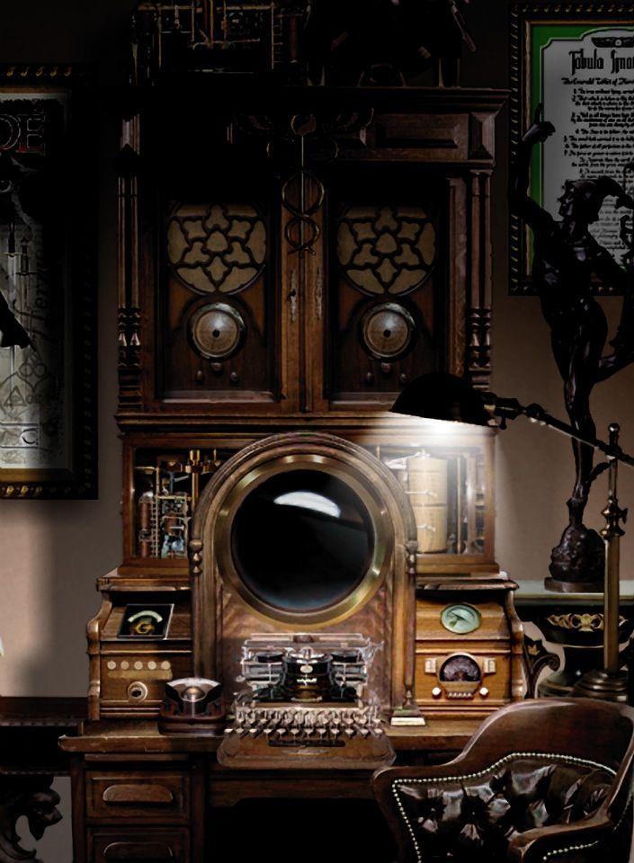 Cool Steampunk Bedroom Interior Decorating Design Ideas