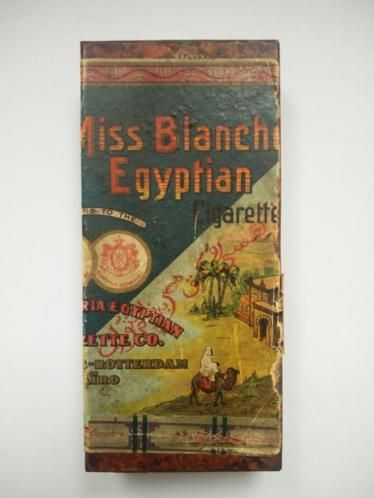 Miss blanche egyptian cigarettes sigaretten blik zie foto's voor meer reclame blikken en blikjes o.a. Sigaren sigaretten cacao chocolade