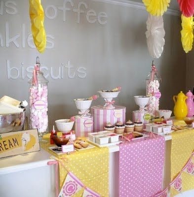 Ice Cream and Pickles Party-- Love this for a little girl's birthday party or even a baby shower for a girl!! Lots of great ideas!