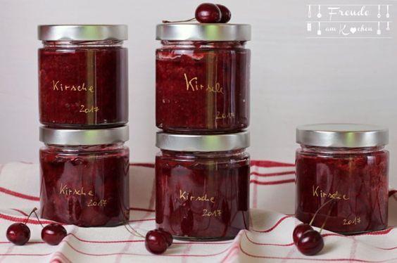 Kirschenmarmelade mit Zimt - Kirsch Konfitüre - Freude am Kochen vegan