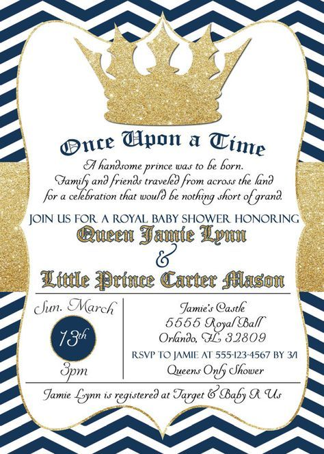 Good Royal Baby Shower Invitation Little Prince By SimplyKayleeDesigns