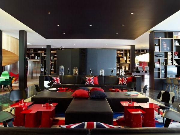 Vibrante Farben und Designer Möbel im Design Hotel CitizenM, London ...