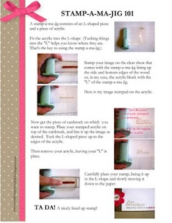tutorial on stamp a ma jig from stampin up