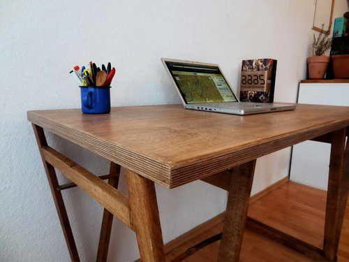 Стол из фанеры своими руками: фото чертежи, видео как сделать — Своими руками