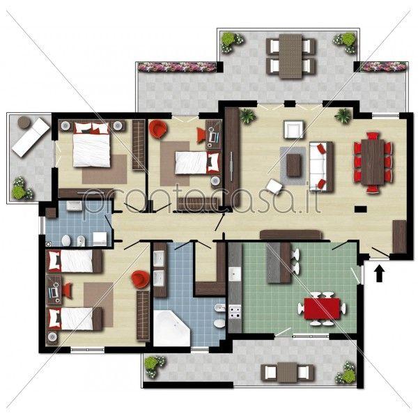 Le planimetrie prontacasa sono state scelte da 1500 agenzie immobiliari un nuovo importante for Planimetrie case