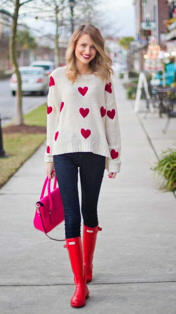 """Cuteness Overloaded    Cute Preppy Winter Outfits    Cute Winter Outfits    Casual Winter Outfit ideas    Preppy Outfit Ideas    42 Cute Preppy Winter  Outfits To Copy ASAP    ・ """"Knit sweaters and tops go so well with jeans! The bright, preppy  colors on this pic will make others around you happy, even makes the one wearing it  playful, fun and delightful! Such a happy outfit!♡"""" ― note @purplemaze"""